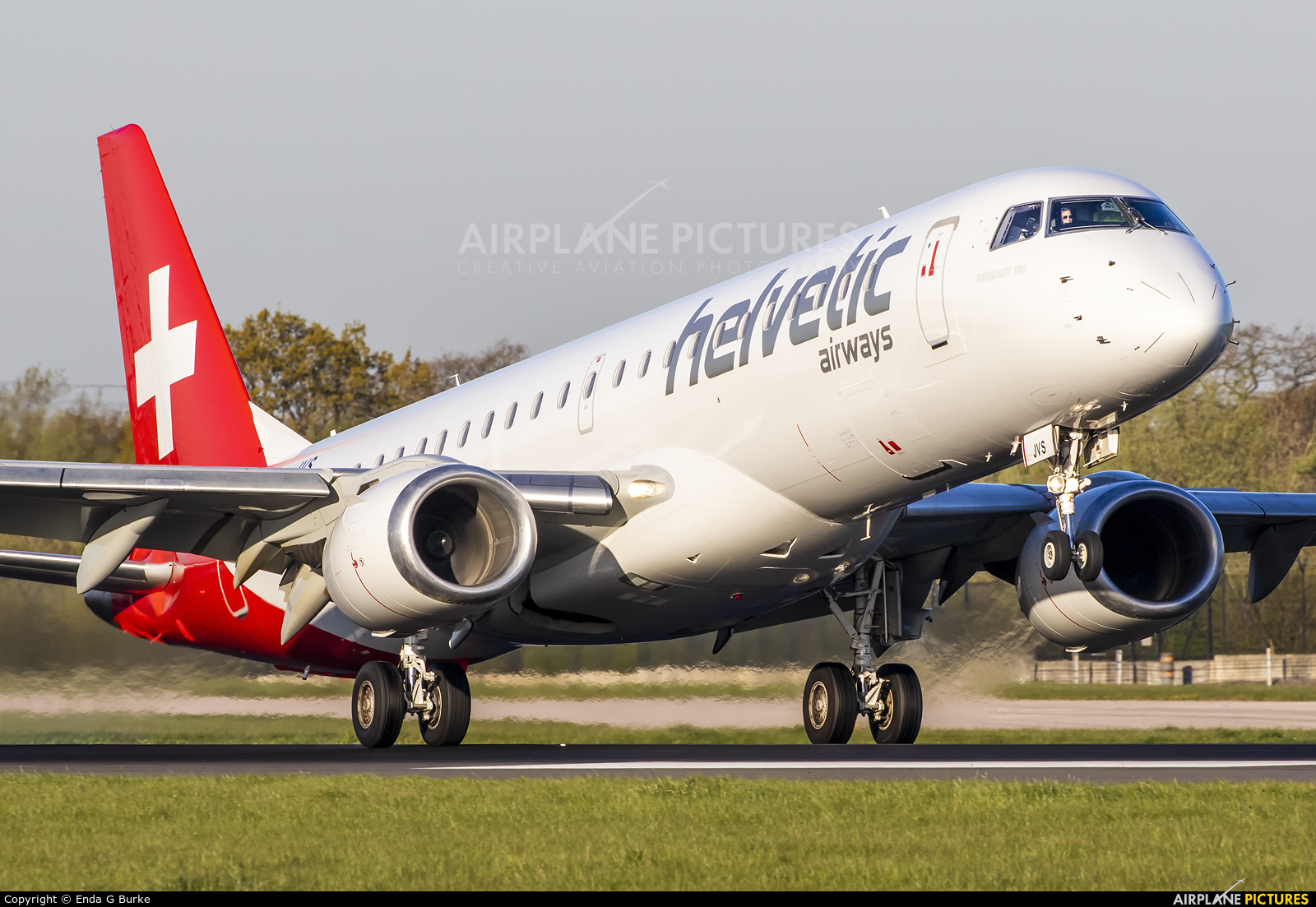 Helvetic Airways HB-JVS aircraft at Manchester