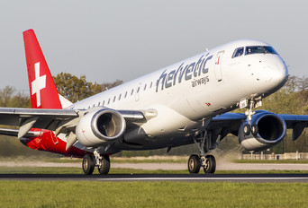 HB-JVS - Helvetic Airways Embraer ERJ-190 (190-100)