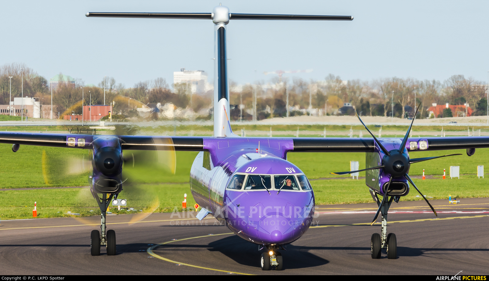 Flybe G-JEDV aircraft at Amsterdam - Schiphol