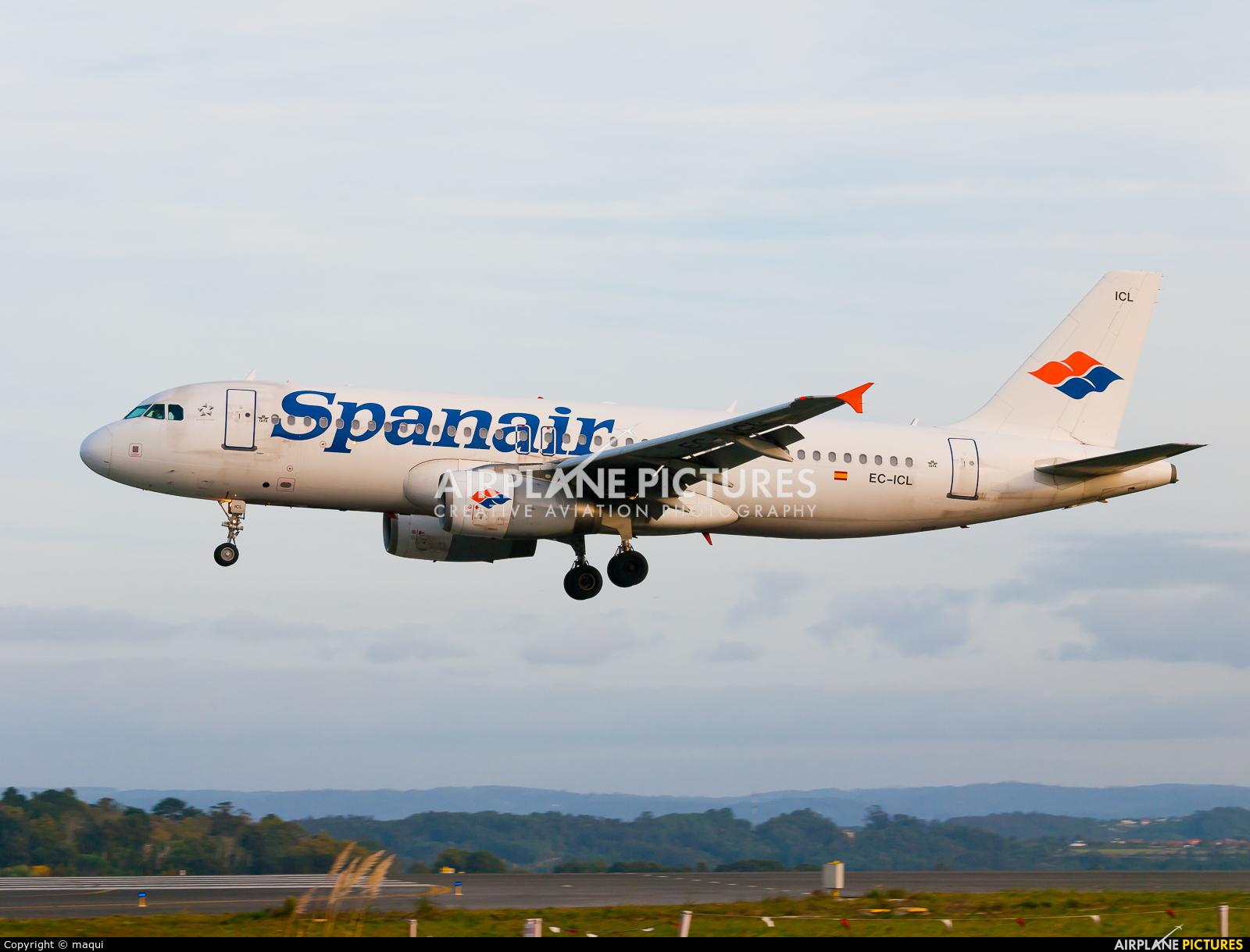 Spanair EC-ICL aircraft at La Coruña