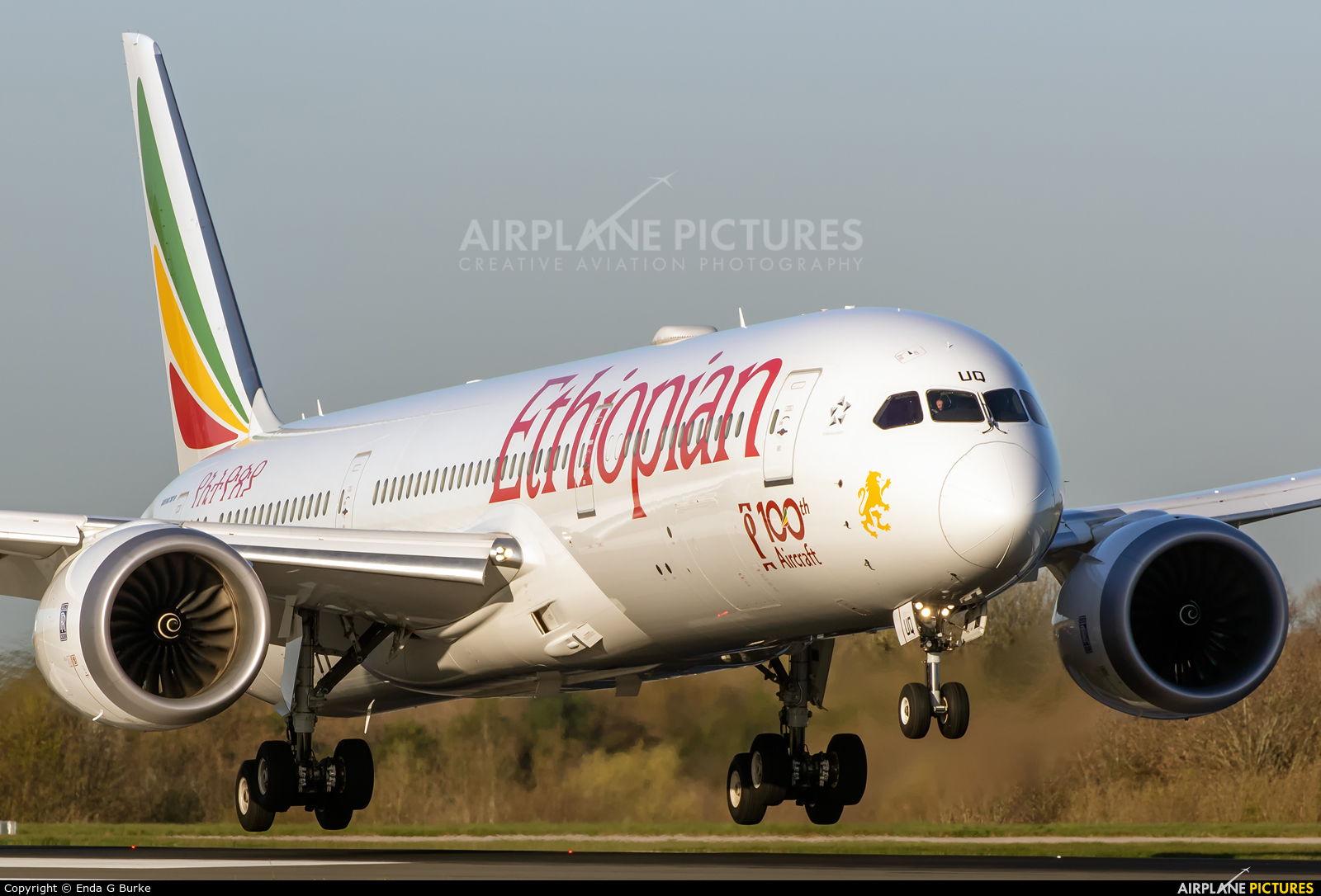 Ethiopian Airlines ET-AUQ aircraft at Manchester