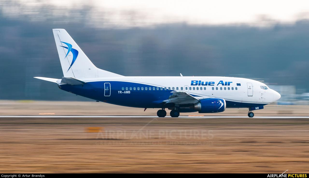 Blue Air YR-AMB aircraft at Kraków - John Paul II Intl