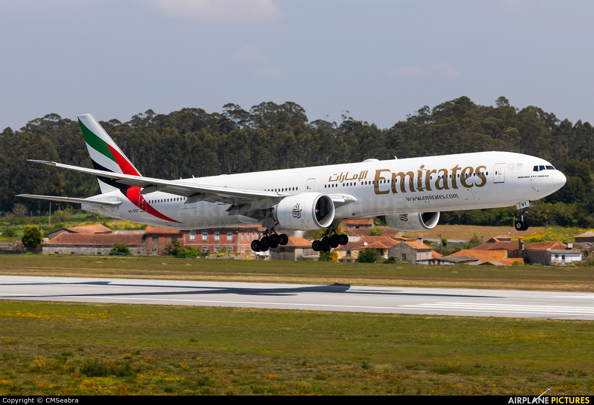 Emirates Airlines A6-ENY aircraft at Porto