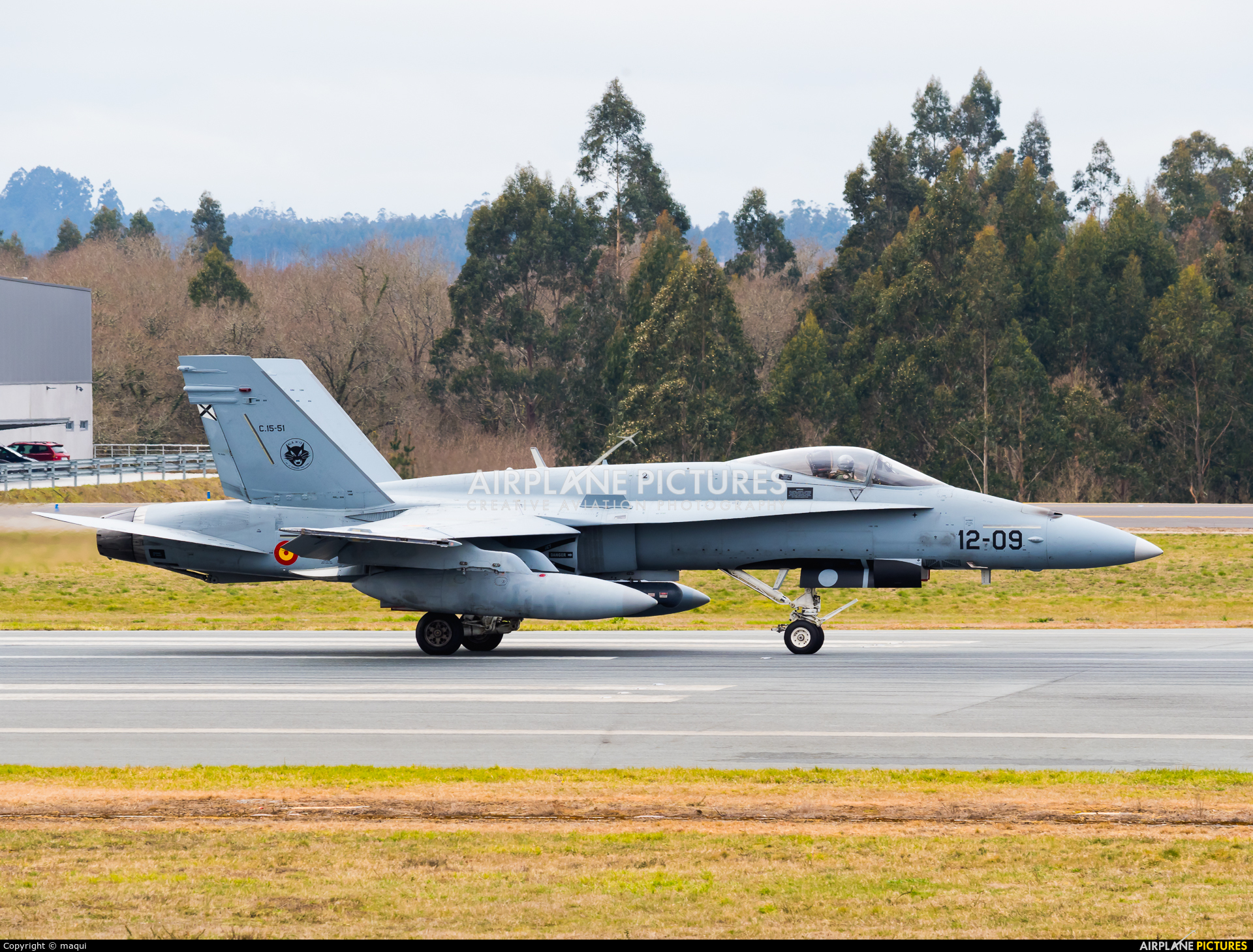 Spain - Air Force C.15-51 aircraft at Santiago de Compostela