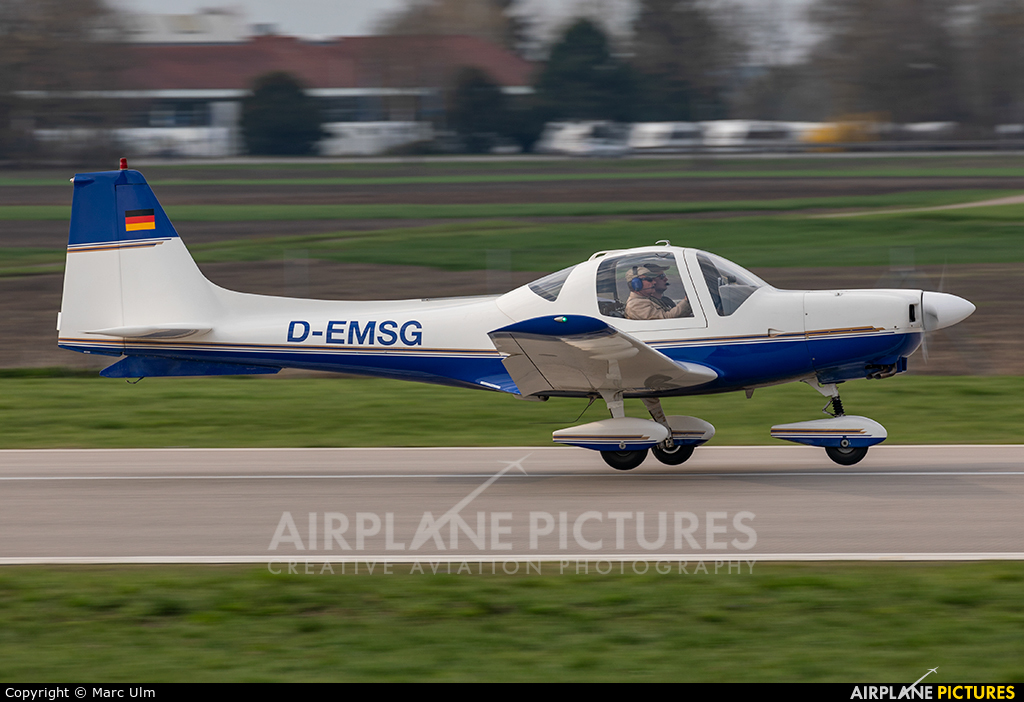 Private D-EMSG aircraft at Augsburg