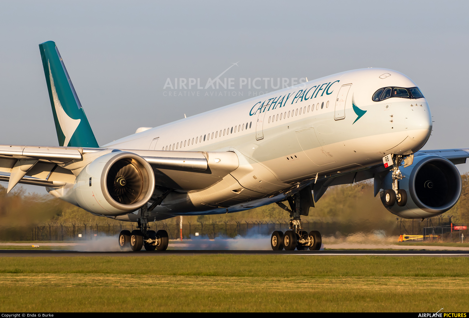 Cathay Pacific B-LRB aircraft at Manchester