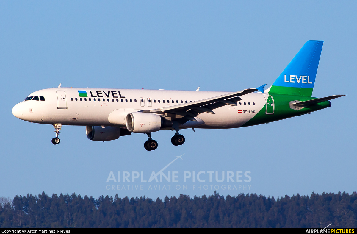 LEVEL OE-LVR aircraft at Bilbao