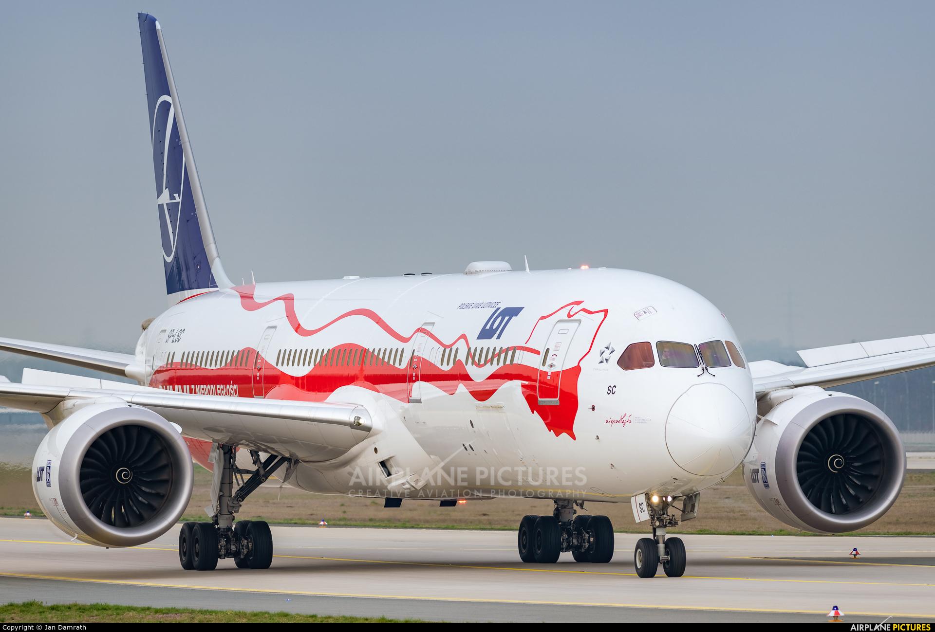 LOT - Polish Airlines SP-LSC aircraft at Frankfurt