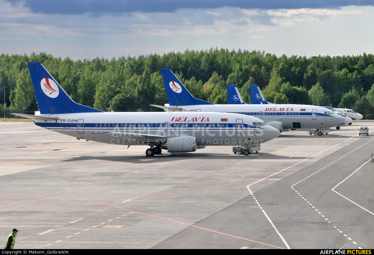 Belavia EW-252PA aircraft at Minsk Intl