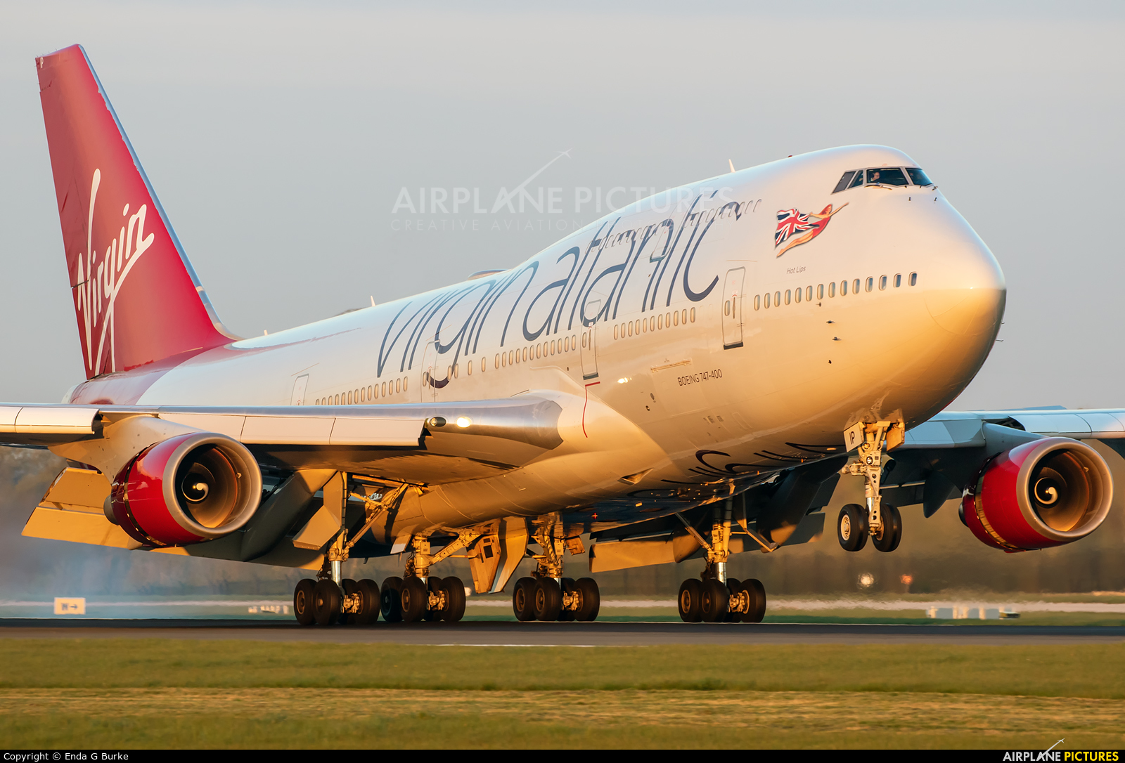 Virgin Atlantic G-VLIP aircraft at Manchester