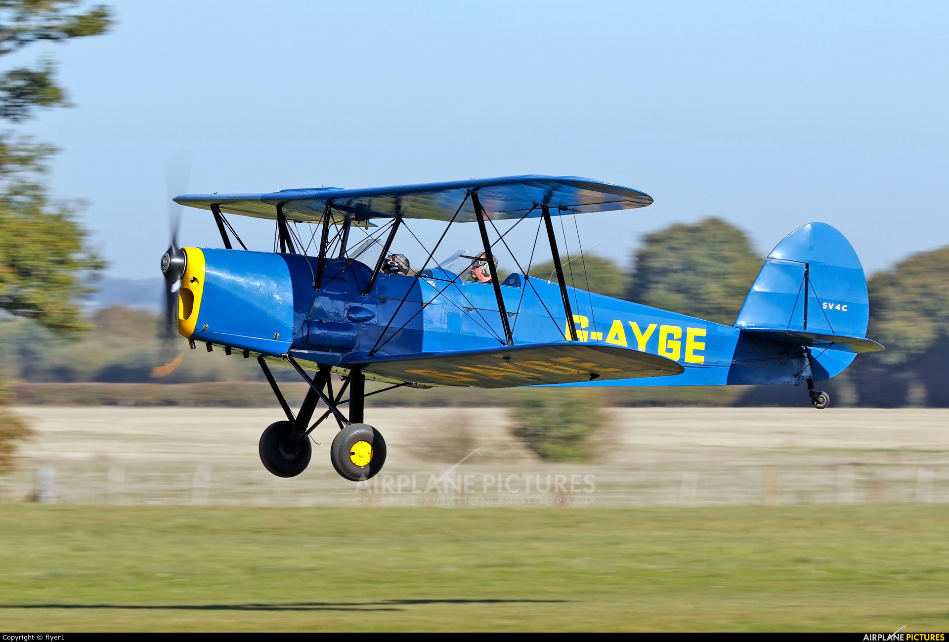 Private G-AYGE aircraft at Lashenden / Headcorn