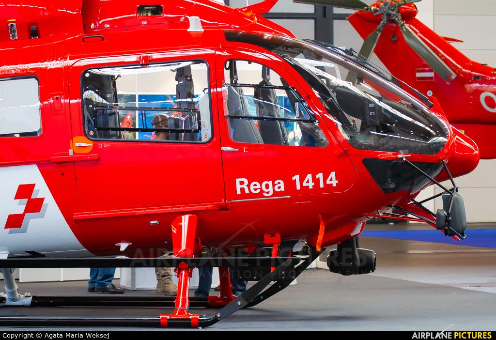 REGA Swiss Air Ambulance  HB-ZQM aircraft at Friedrichshafen