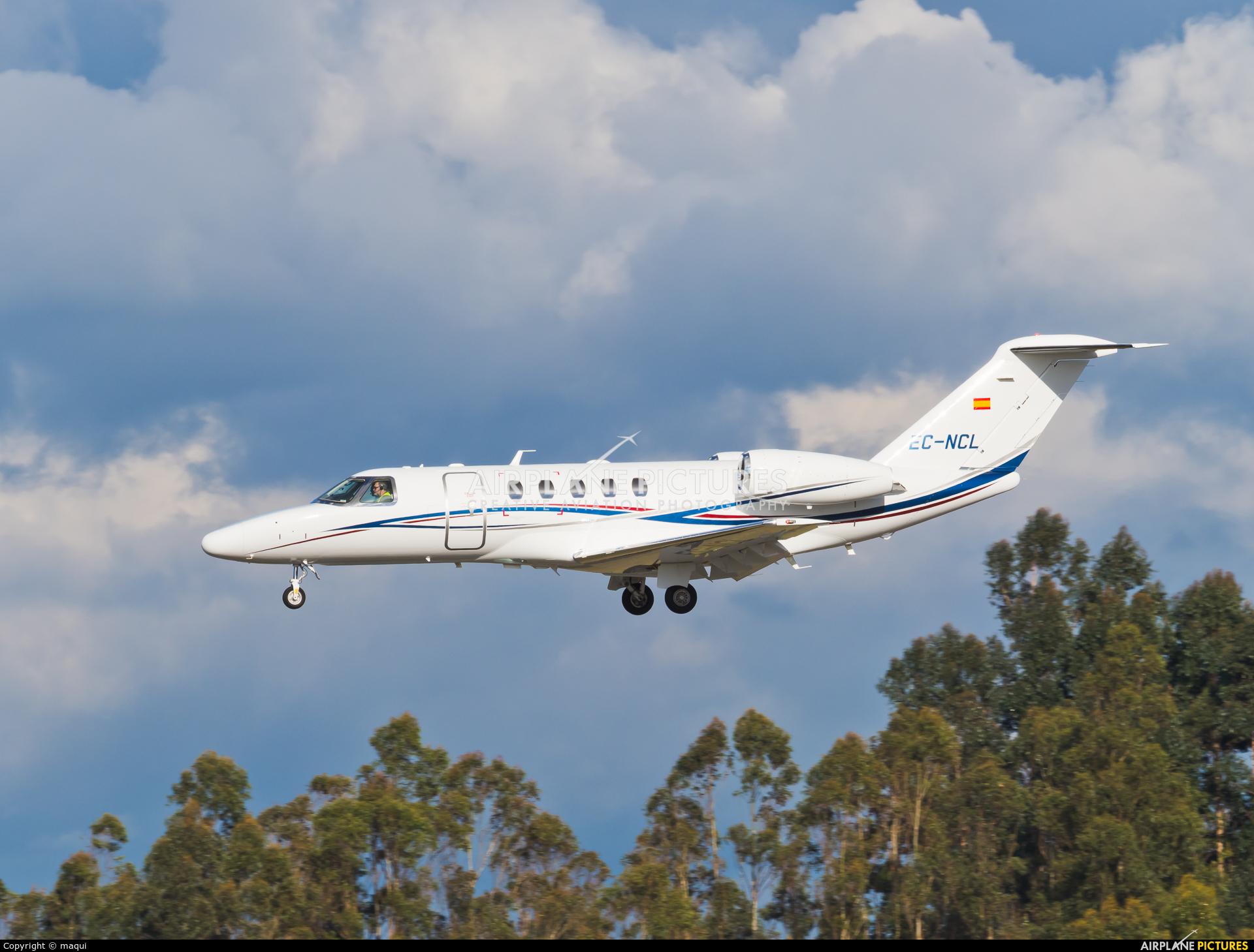 Private EC-NCL aircraft at Santiago de Compostela