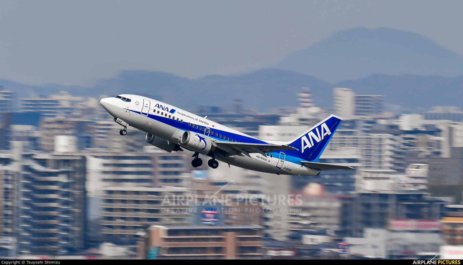 ANA Wings JA8595 aircraft at Fukuoka