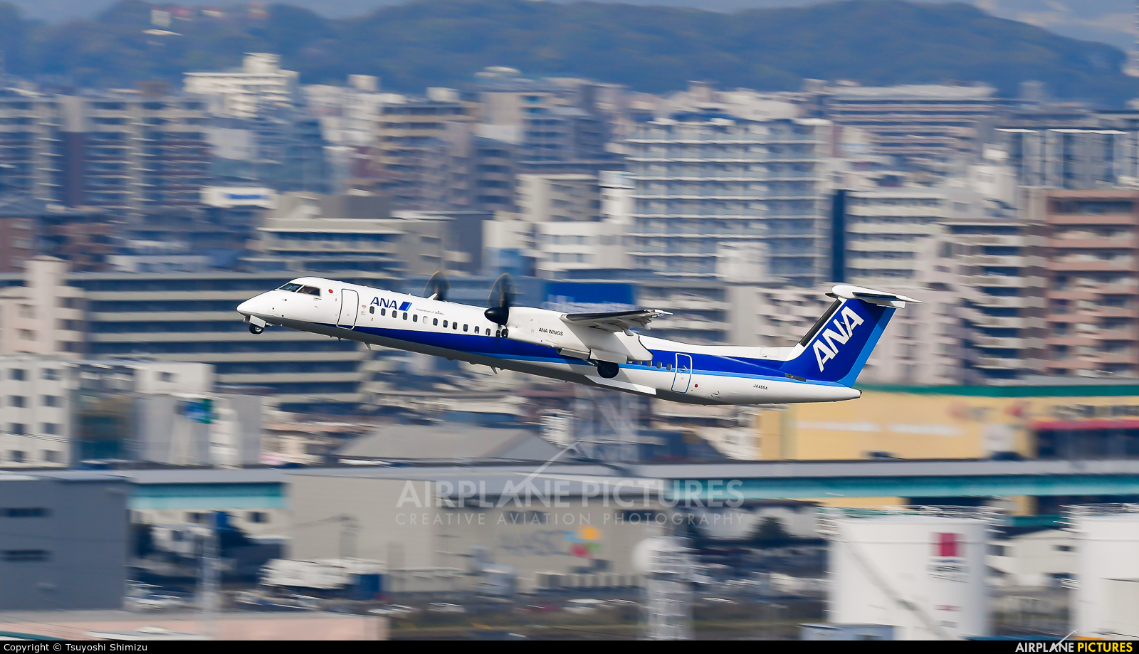 ANA Wings JA465A aircraft at Fukuoka