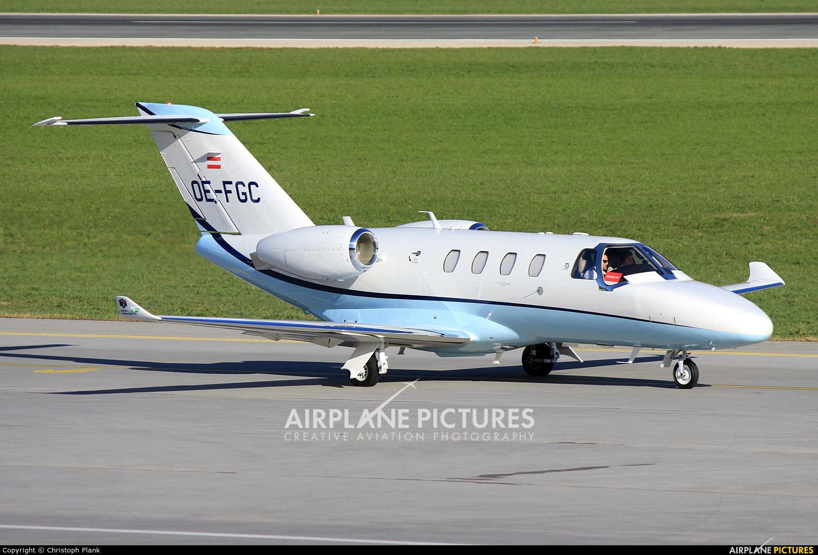 FlyTyrol OE-FGC aircraft at Innsbruck