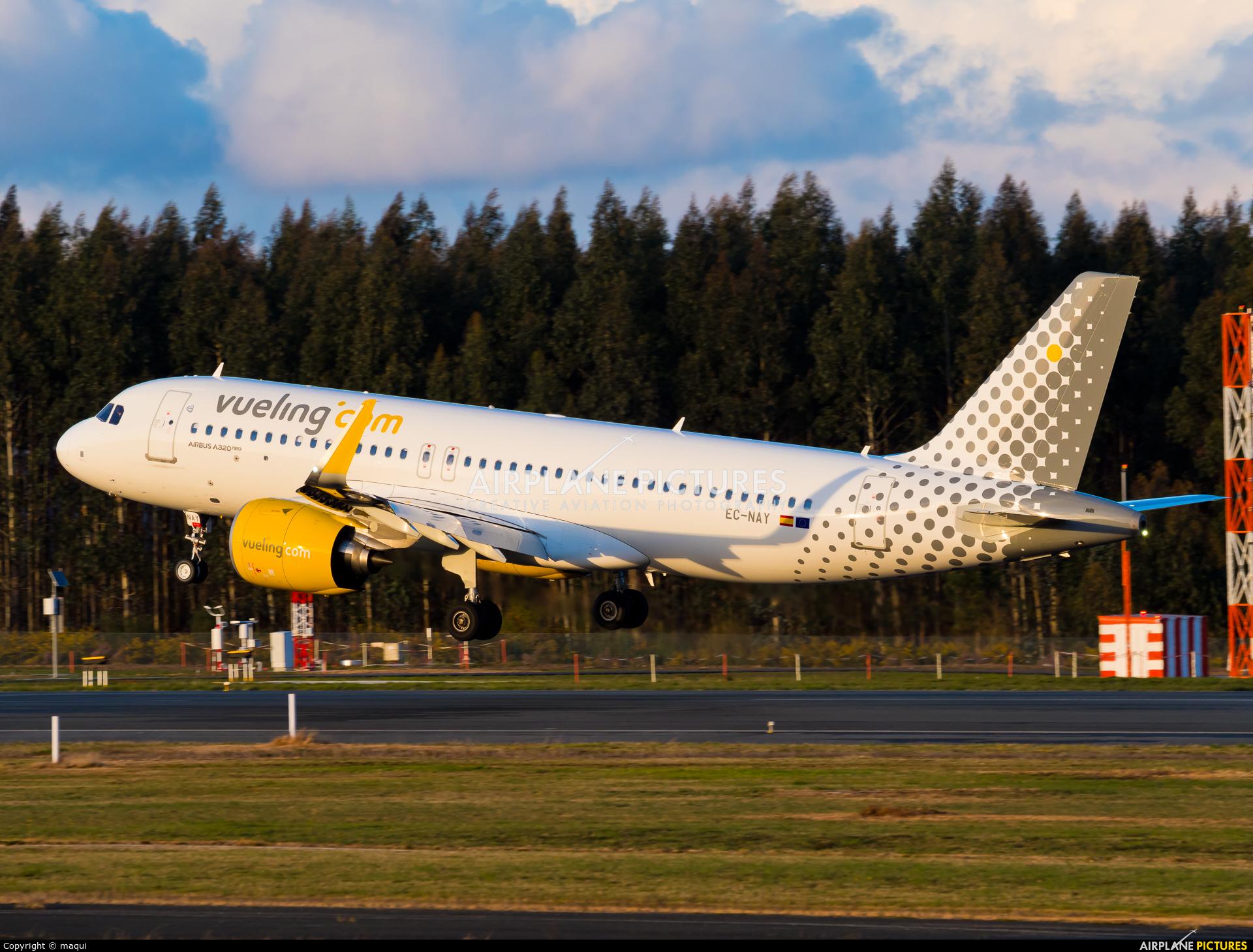 Vueling Airlines EC-NAY aircraft at Santiago de Compostela