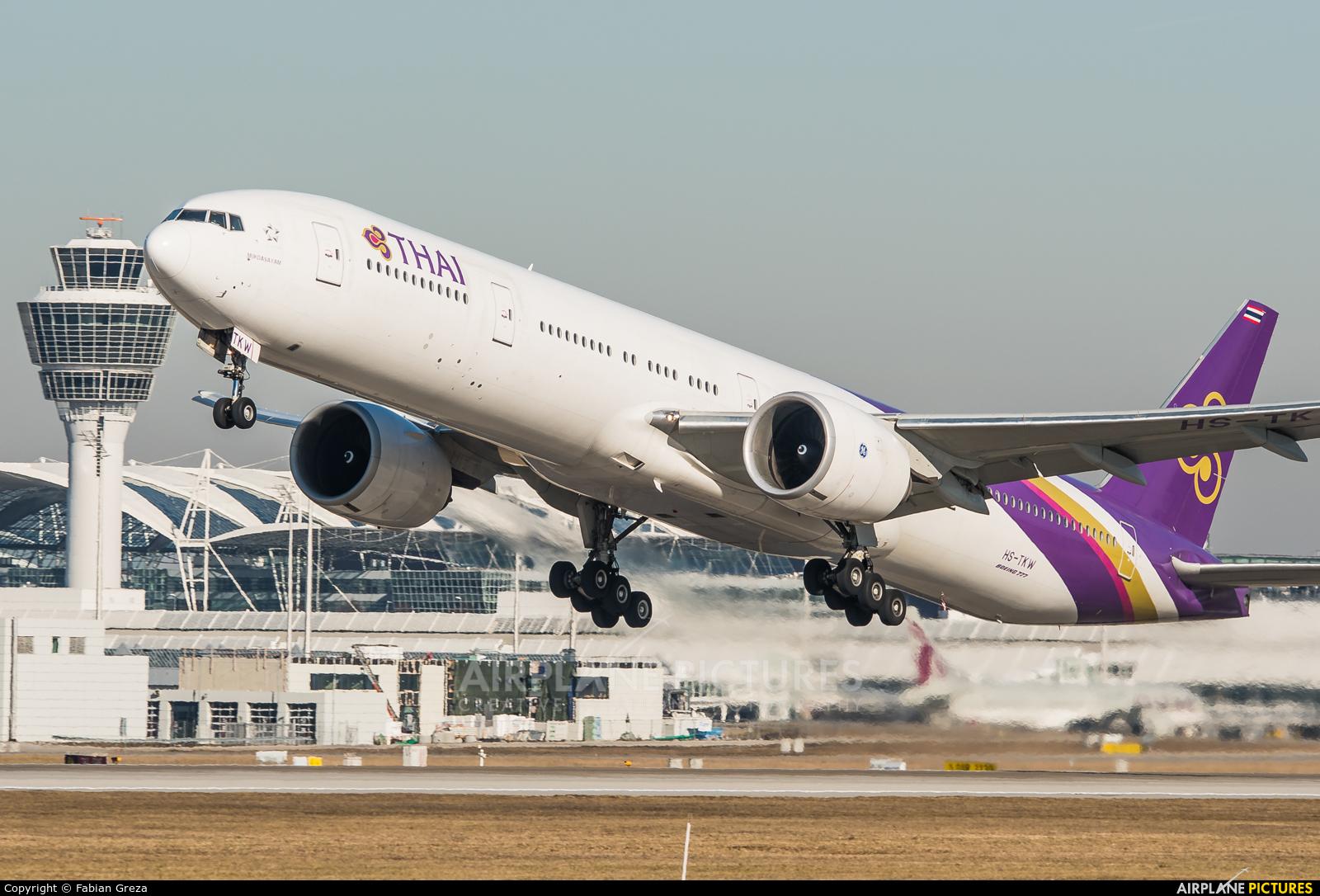 Thai Airways HS-TKW aircraft at Munich