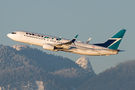 WestJet Airlines Boeing 737-800 C-GYSD at Vancouver Intl, BC airport