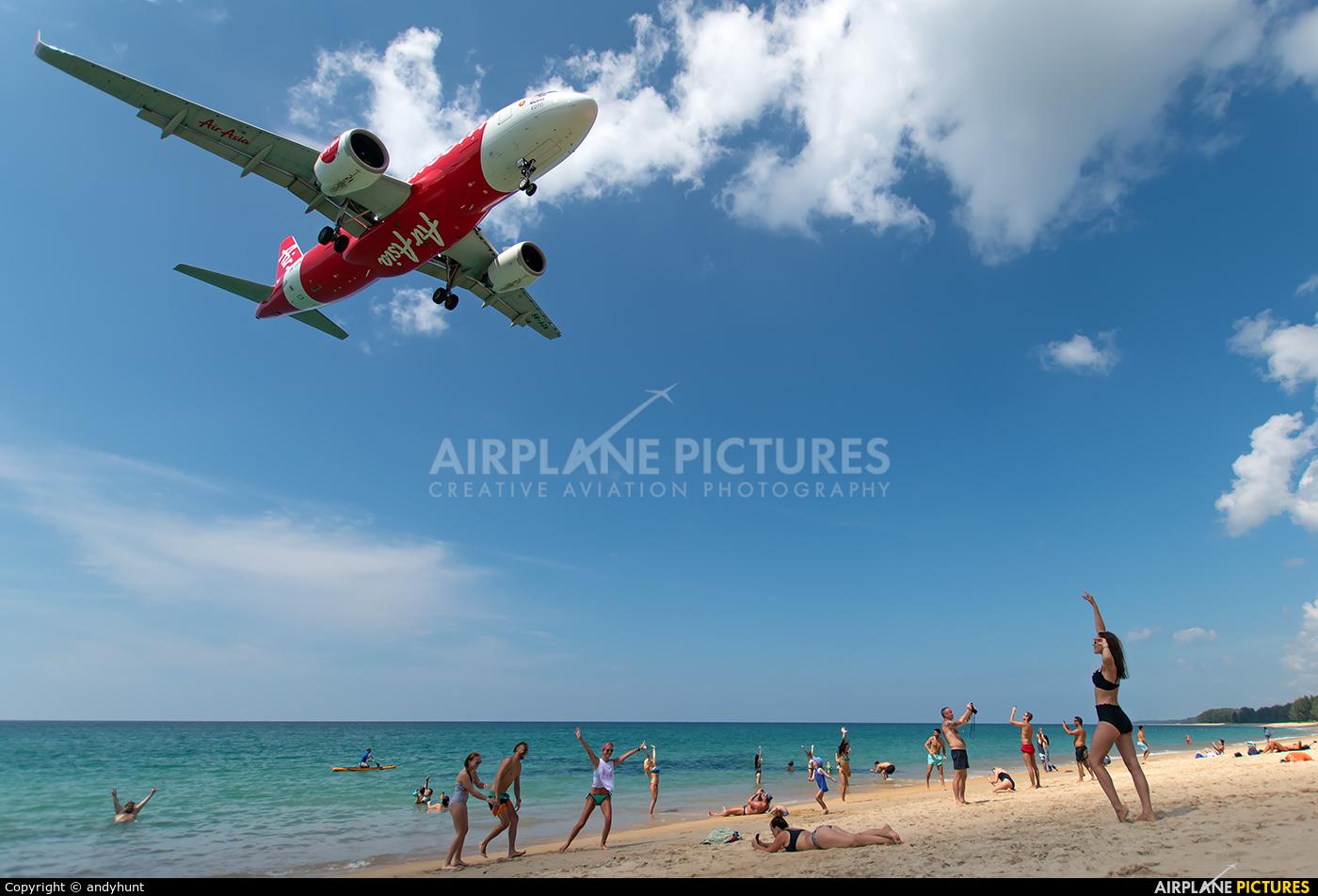 AirAsia (Malaysia) 9M-AGN aircraft at Phuket