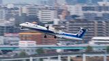 ANA Wings de Havilland Canada DHC-8-400Q / Bombardier Q400 JA462A at Fukuoka airport