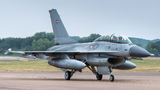 Denmark - Air Force General Dynamics F-16B Fighting Falcon ET-198 at Fairford airport