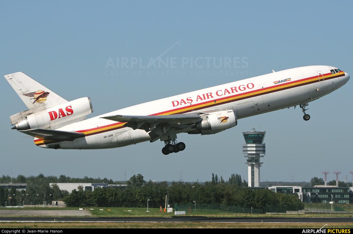 DAS Air Cargo 5X-JOE aircraft at Brussels - Zaventem