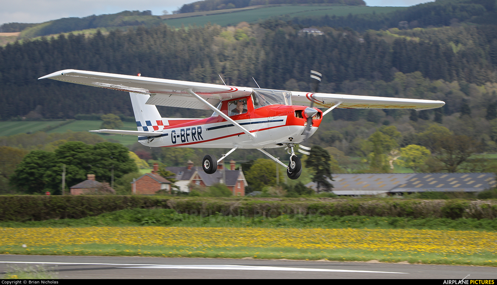 Private G-BFRR aircraft at Welshpool