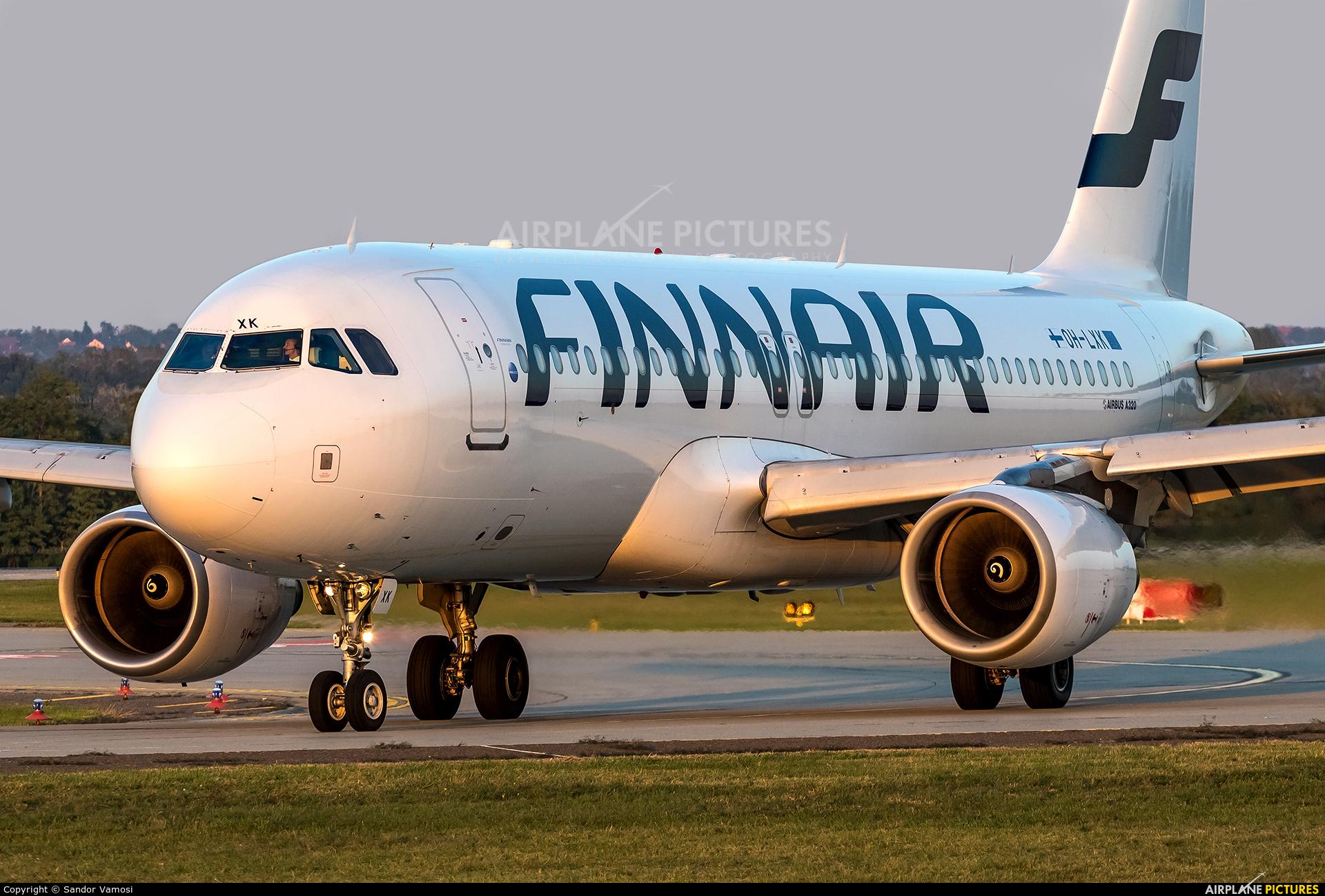 Finnair OH-LXK aircraft at Budapest Ferenc Liszt International Airport