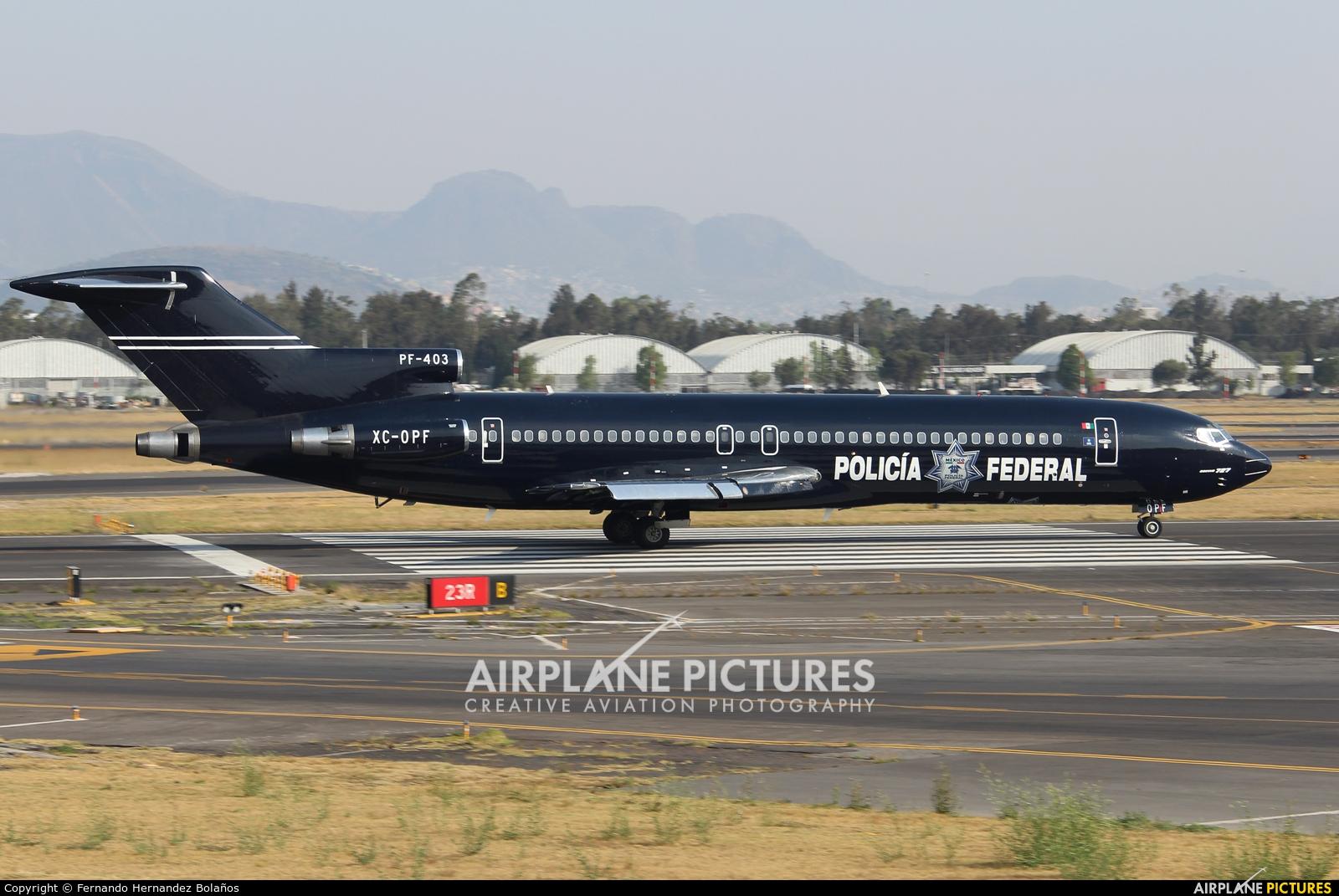 Mexico - Police XC-OPF aircraft at Mexico City - Licenciado Benito Juarez Intl