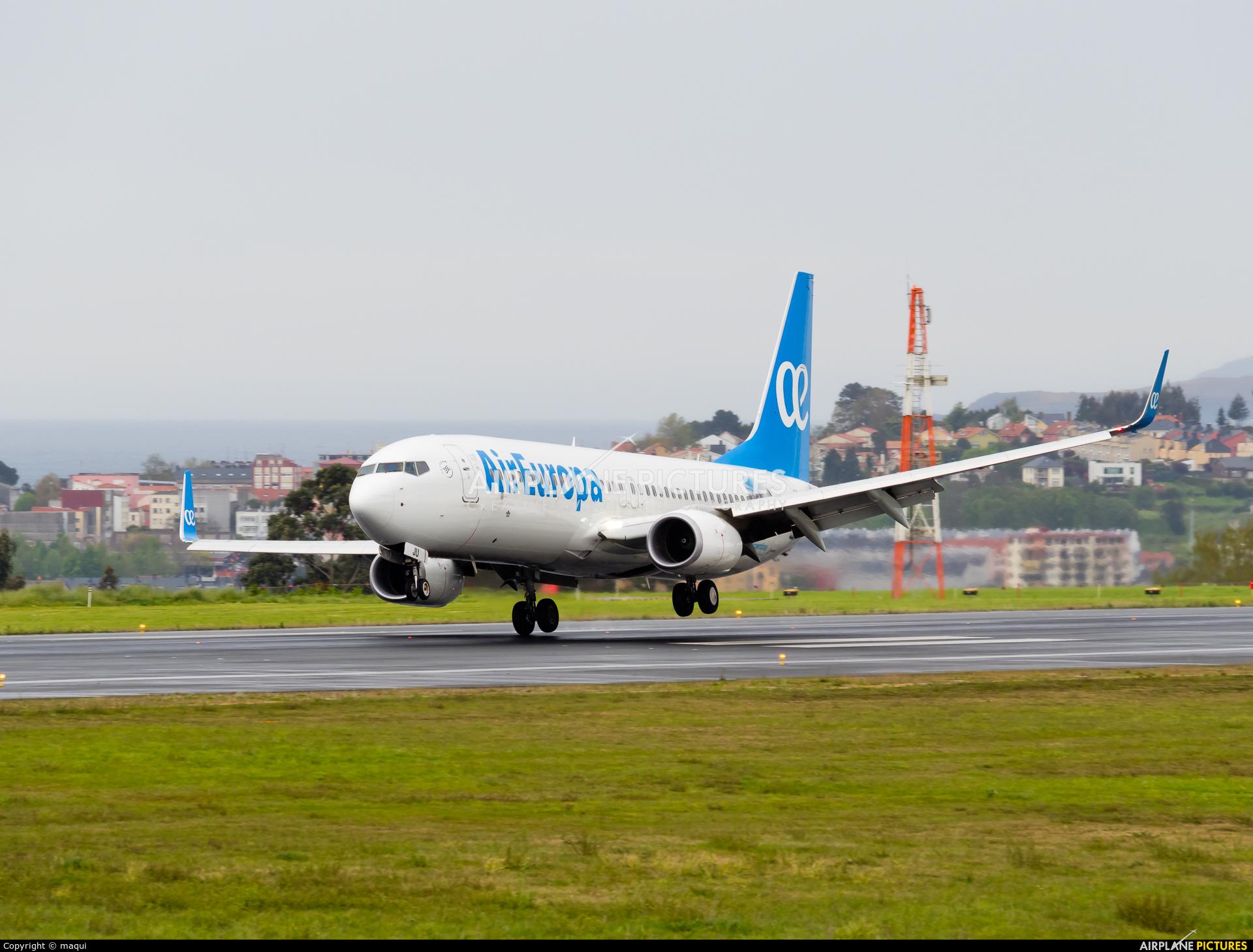 Air Europa EC-MJU aircraft at La Coruña