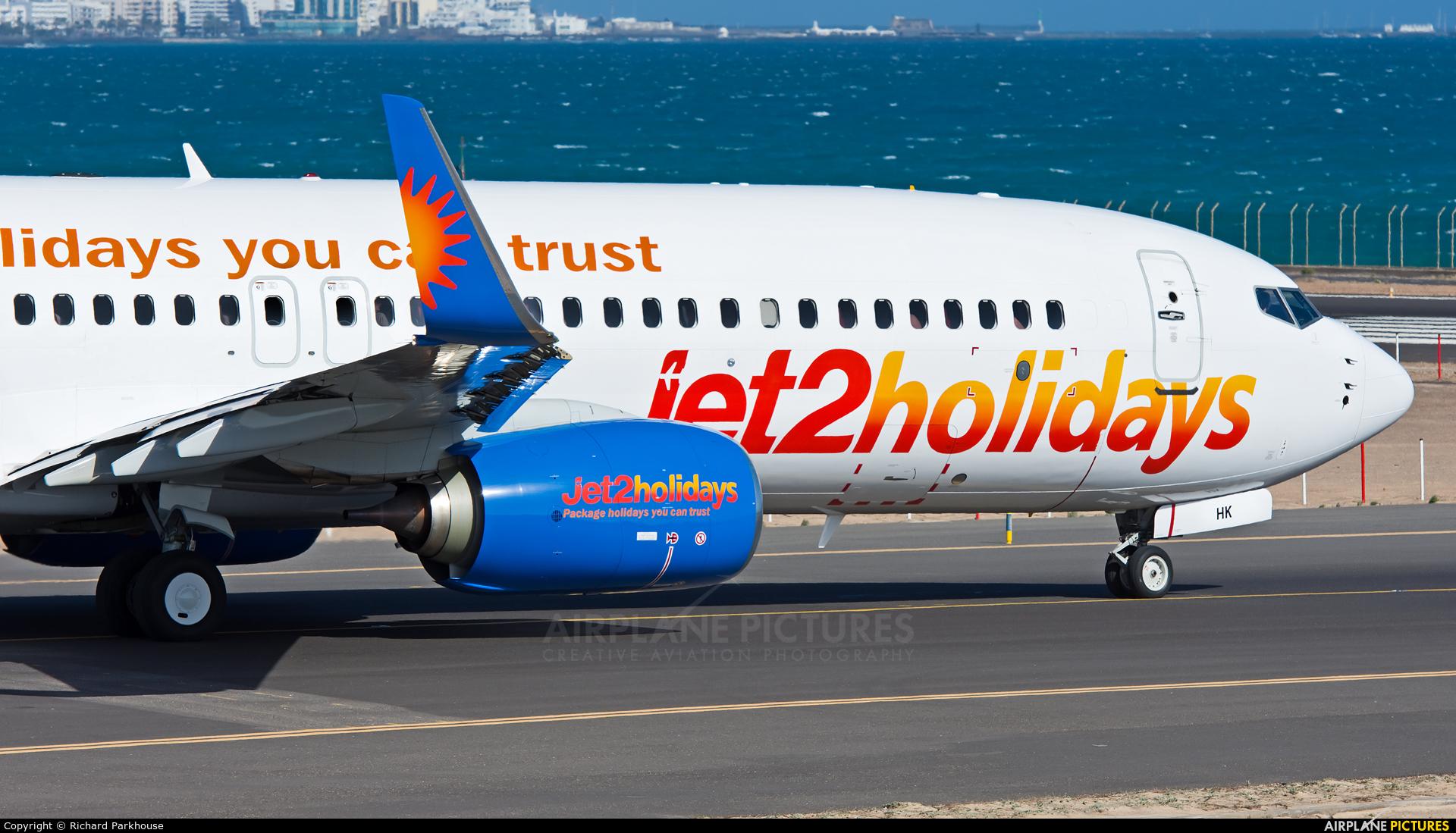 Jet2 G-JZHK aircraft at Lanzarote - Arrecife