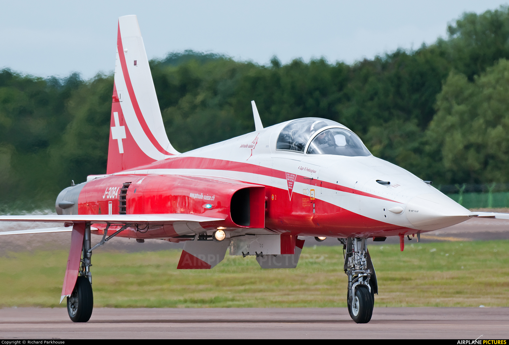 Switzerland - Air Force:  Patrouille de Suisse J-3084 aircraft at Fairford