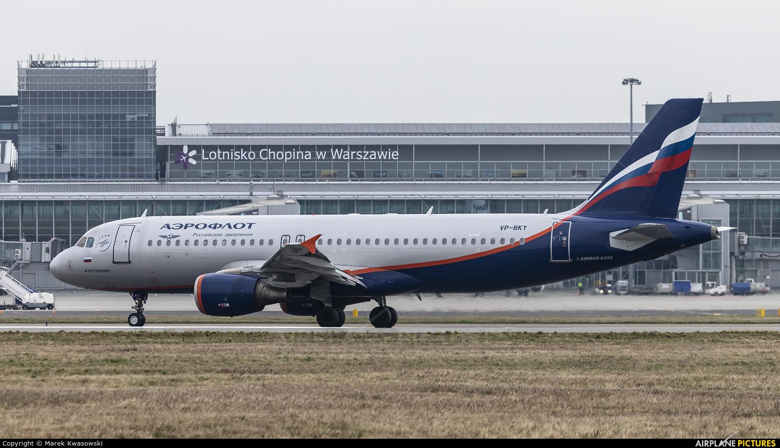 Aeroflot VP-BKY aircraft at Warsaw - Frederic Chopin