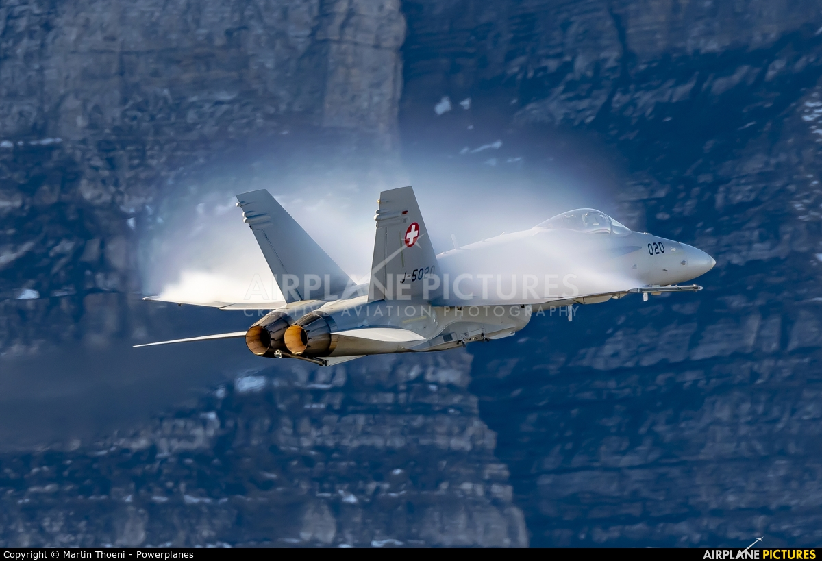 Switzerland - Air Force J-5007 aircraft at Axalp - Ebenfluh Range