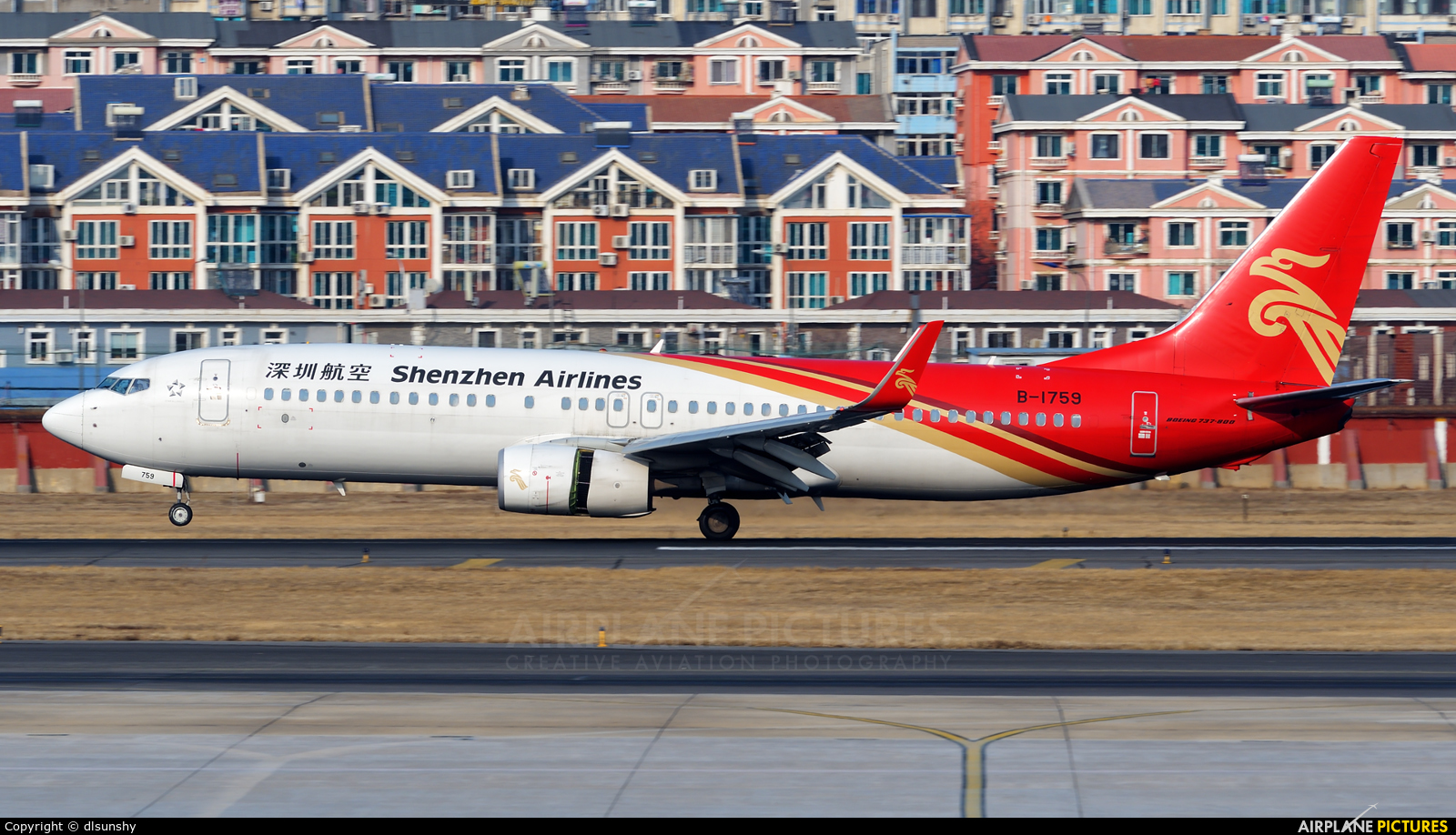 Shenzhen Airlines B-1759 aircraft at Dalian Zhoushuizi Int'l