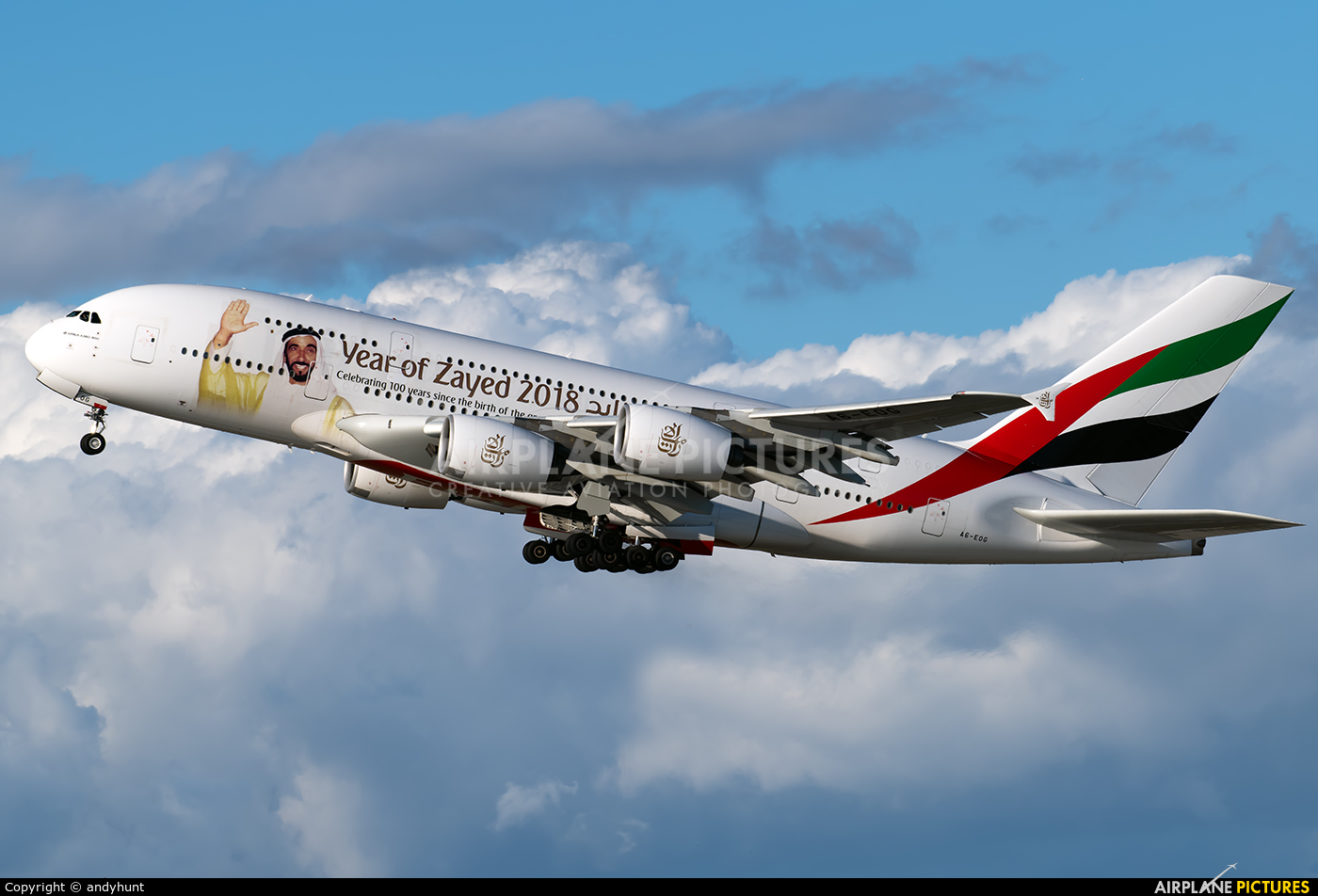 Emirates Airlines A6-EOG aircraft at Los Angeles Intl