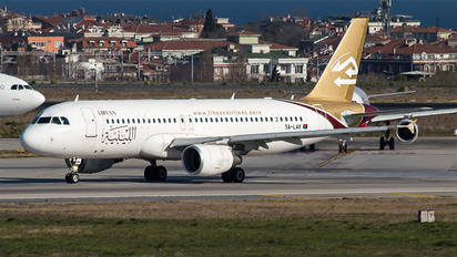5A-LAK - Libyan Airlines Airbus A320