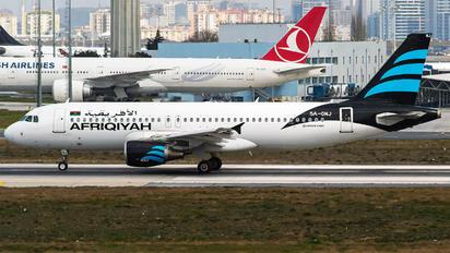 5A-ONJ - Afriqiyah Airways Airbus A320