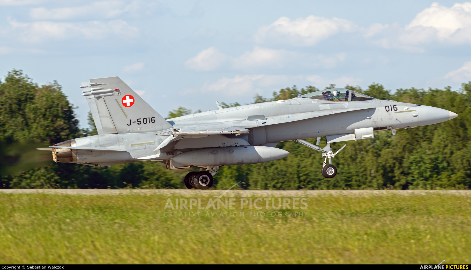 Switzerland - Air Force J-5016 aircraft at Poznań - Krzesiny