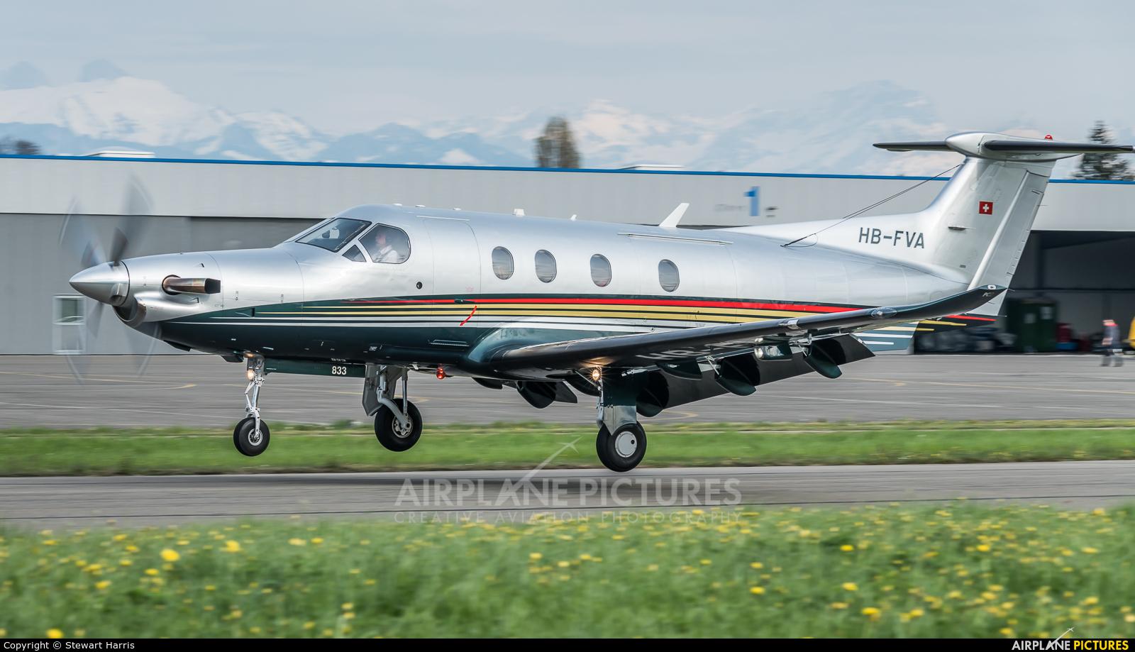 Private HB-FVA aircraft at Lausanne - La Blécherette