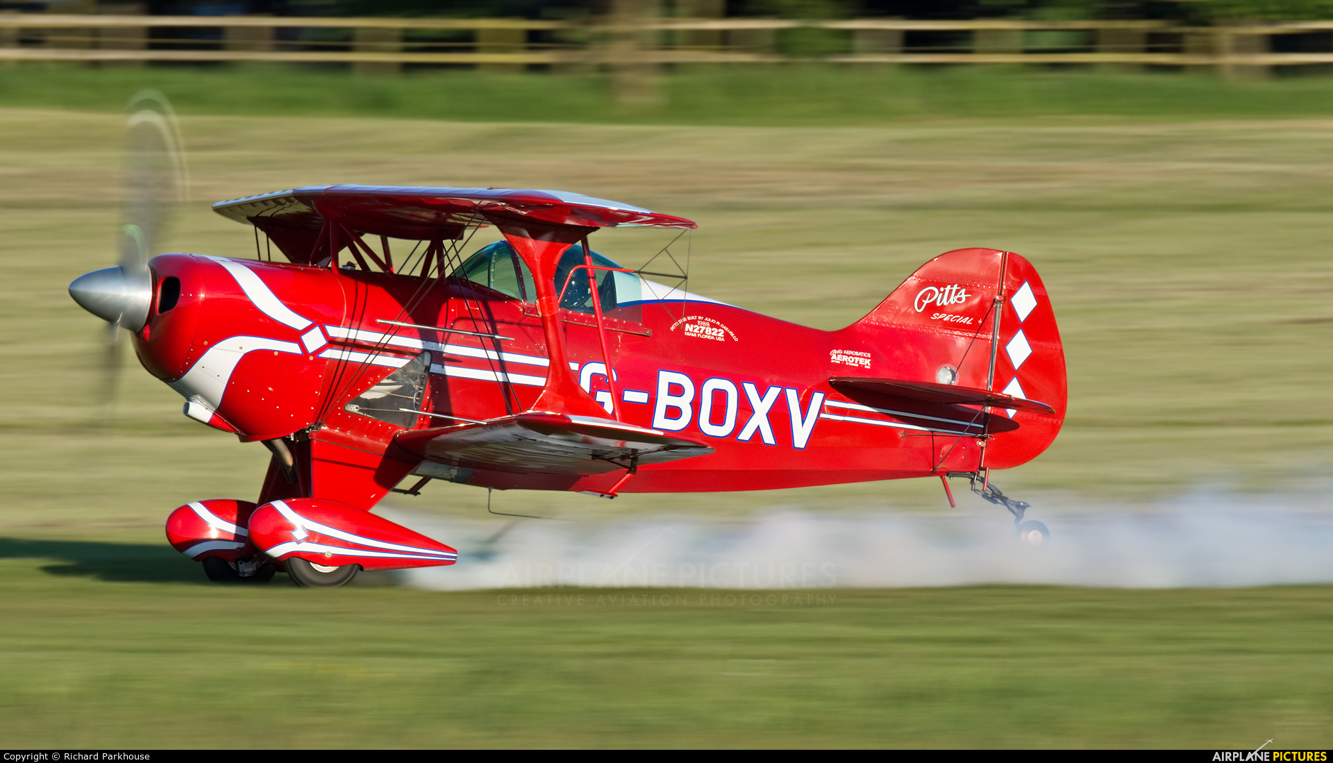 Private G-BOXV aircraft at Old Warden