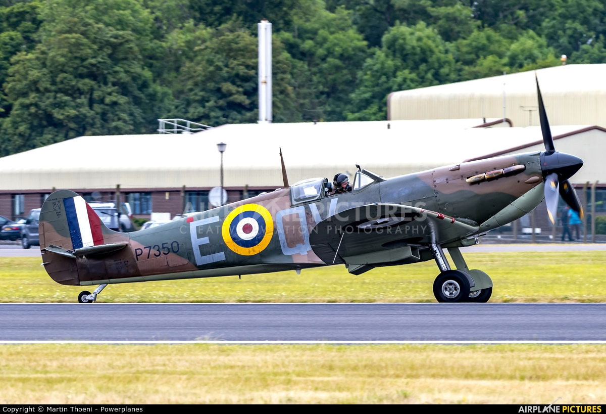 "Royal Air Force ""Battle of Britain Memorial Flight"" G-AWIJ aircraft at Fairford"