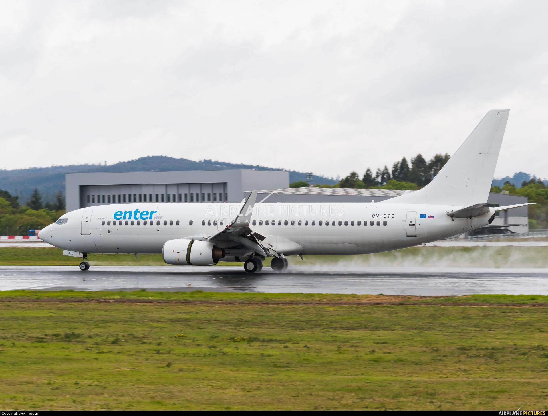 Go2Sky Airline OM-GTG aircraft at Santiago de Compostela
