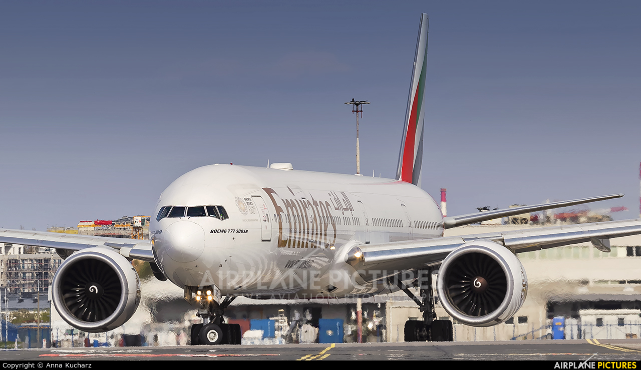 Emirates Airlines A6-ENE aircraft at Warsaw - Frederic Chopin