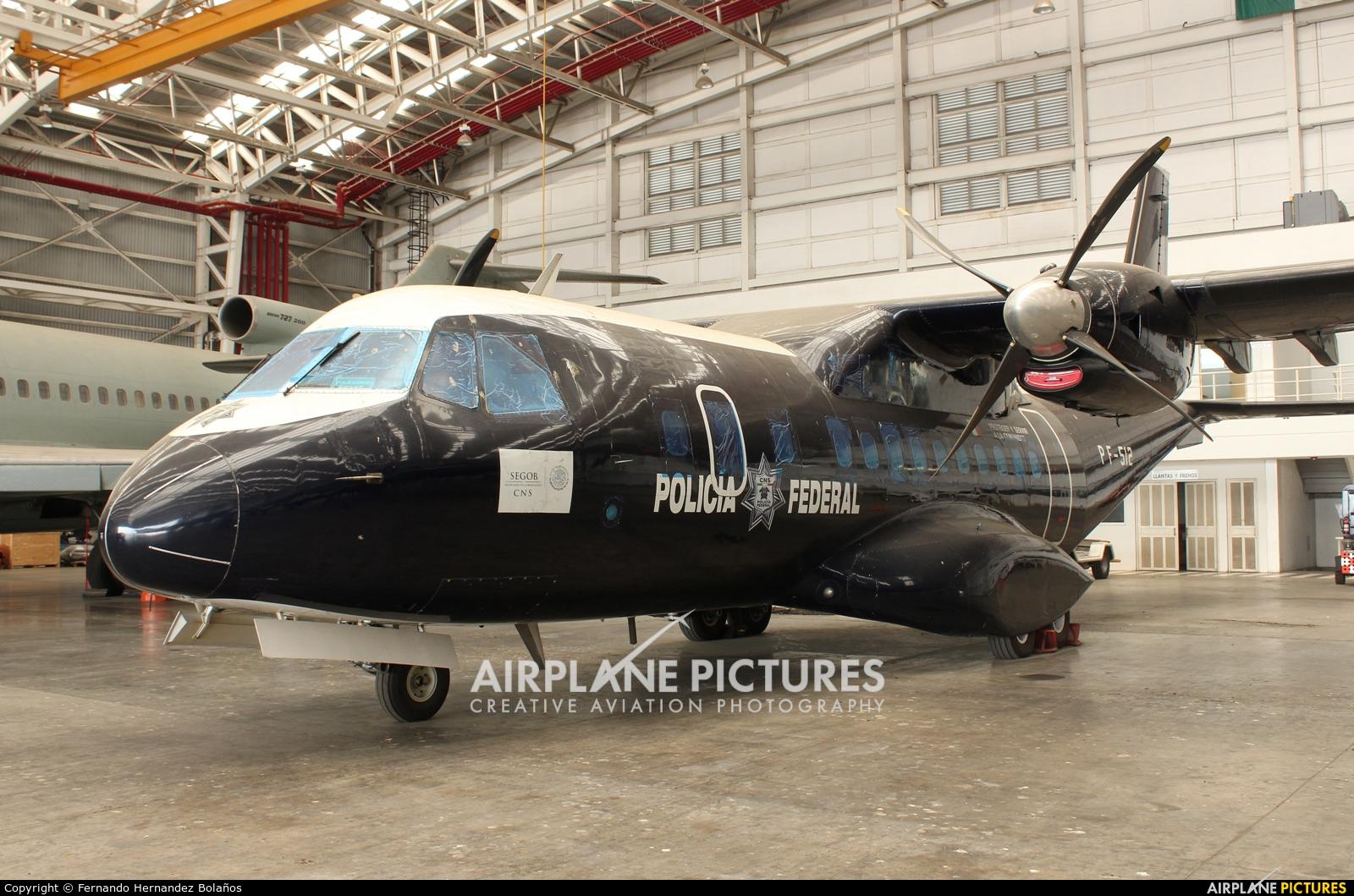 Mexico - Police PF-512 aircraft at Mexico City - Licenciado Benito Juarez Intl