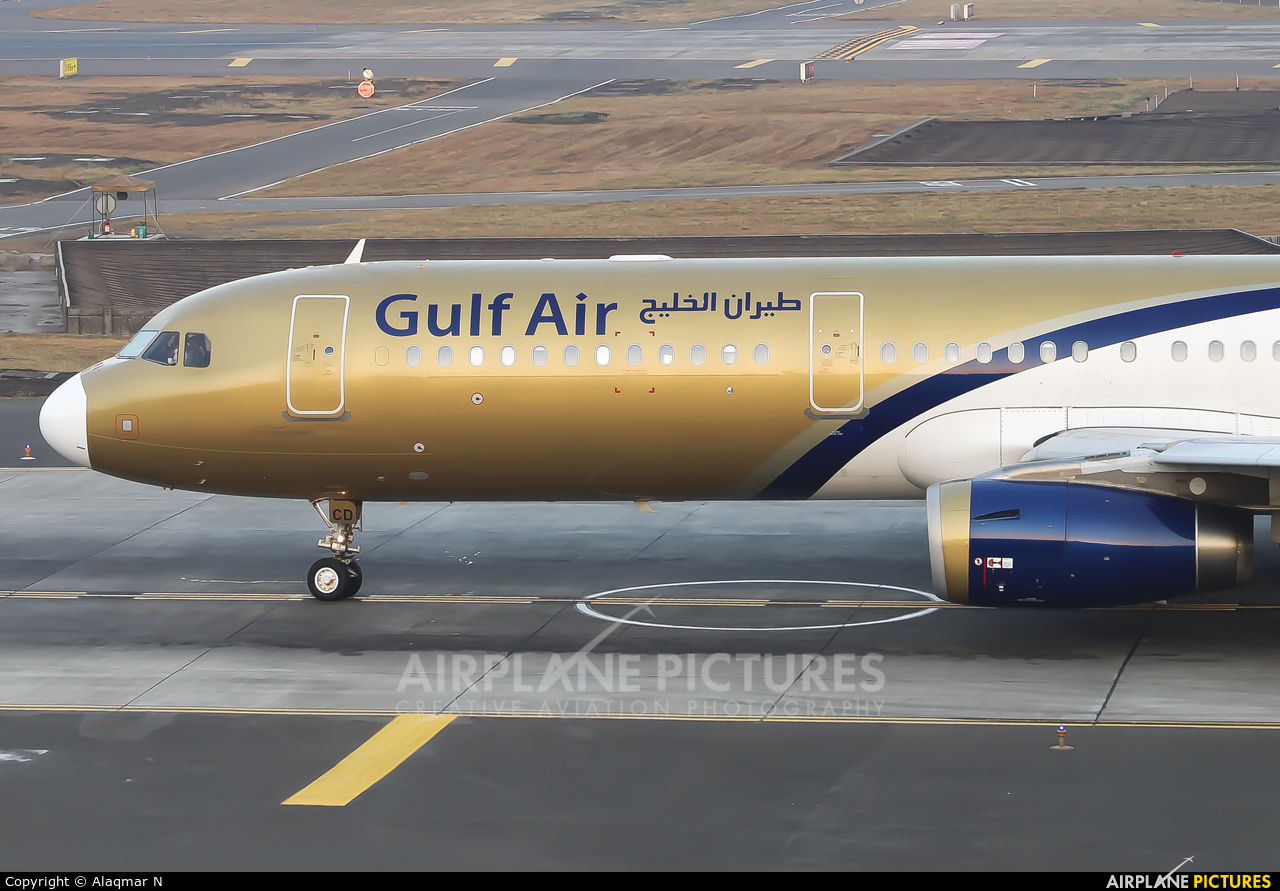 Gulf Air A9C-CD aircraft at Mumbai - Chhatrapati Shivaji Intl