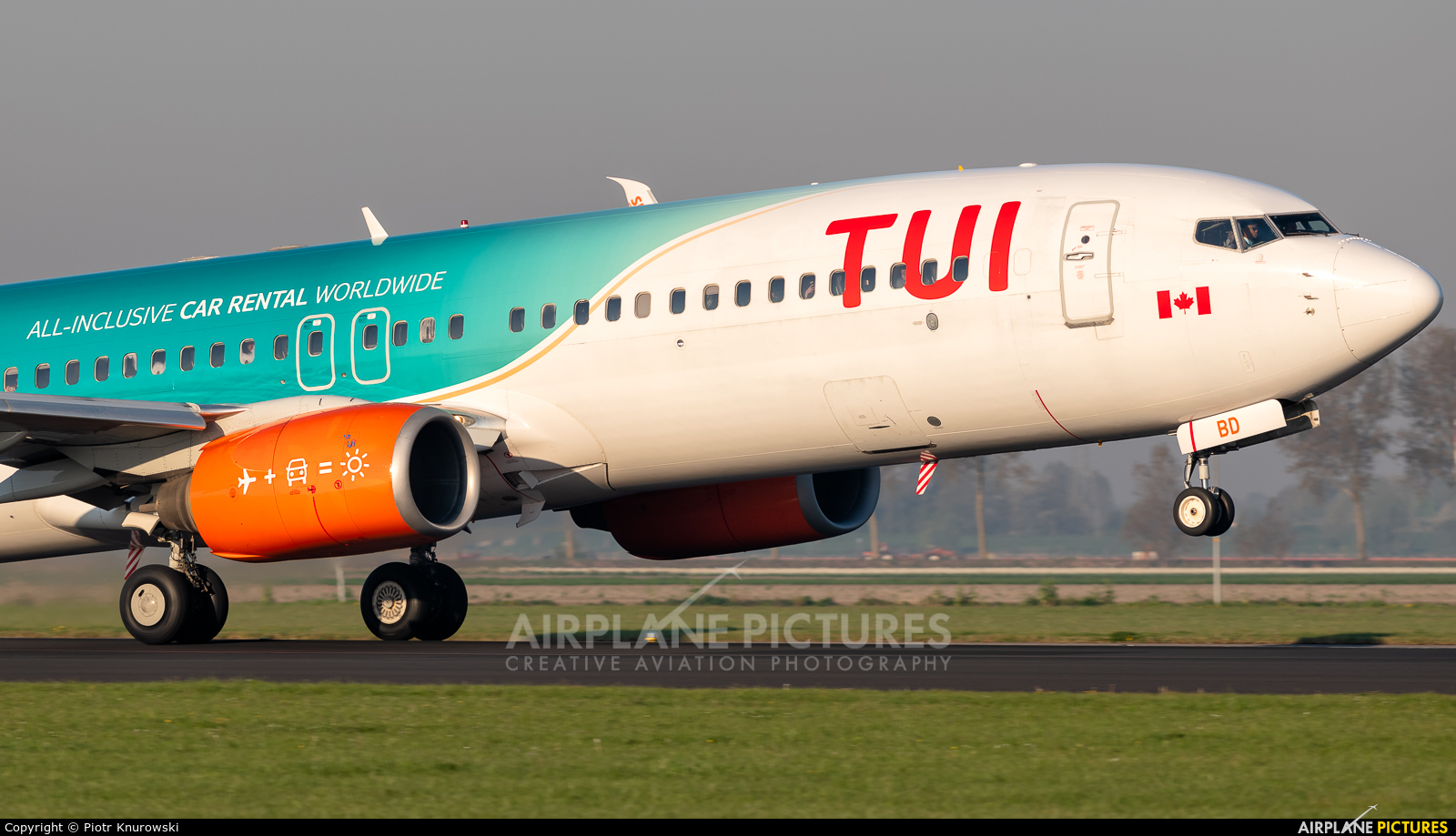 TUI Airways C-FDBD aircraft at Amsterdam - Schiphol