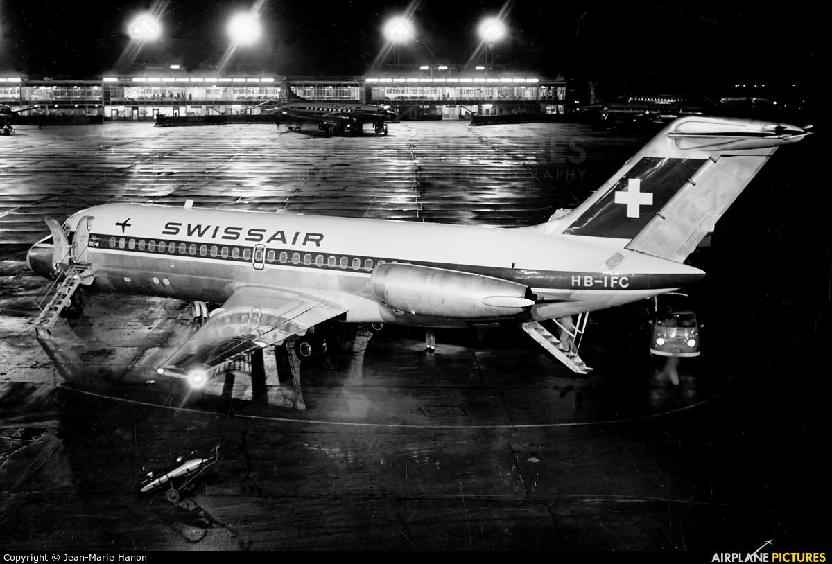Swissair HB-IFC aircraft at Brussels - Zaventem