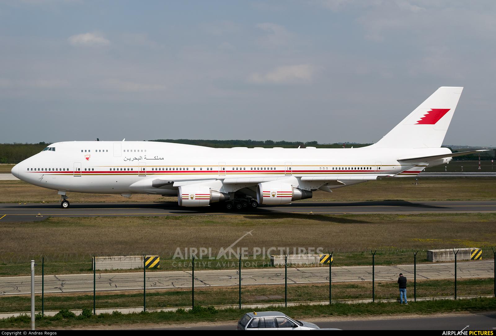 Bahrain Amiri Flight A9C-HMK aircraft at Budapest Ferenc Liszt International Airport